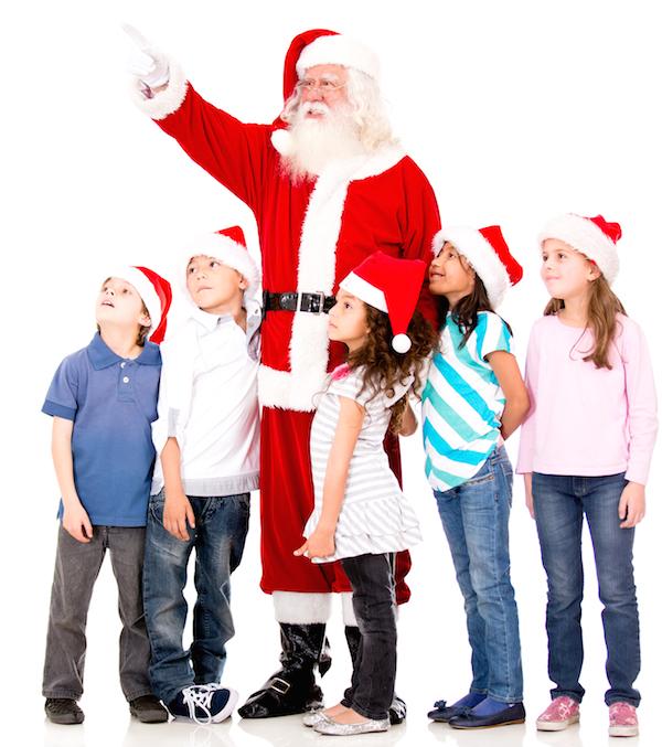 Storytime with Santa (Stock Photo)