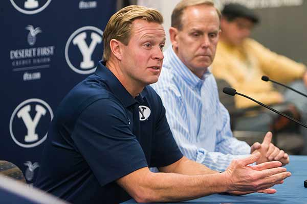 Bronco Mendenhall announced he will coach the Virginia Caveliers in 2016. (Photo by Ari Davis/The Universe)