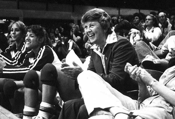 With an 80 percent winning record as former coach of the women's volleyball team, Elaine Michaelis launched the BYU Women's Volleyball team to international fame. (Photo courtesy BYU Photo)