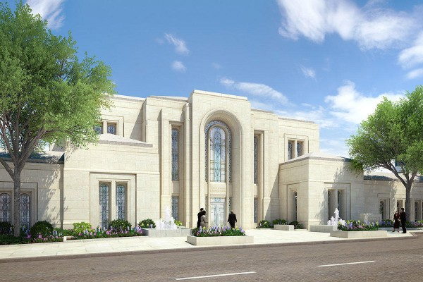 Rendering of the Paris France Temple. (Image Courtesy LDSChurchTemples.com)