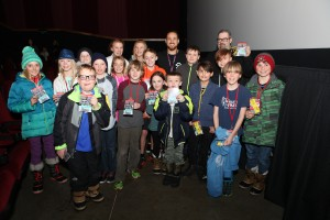 "Students show off their Sundance passes after a screening of ""Little Gangster,"" part of Sundance Film Festival's Utah Student Screening Series. (Photo courtesy of Sundance Film Festival)"