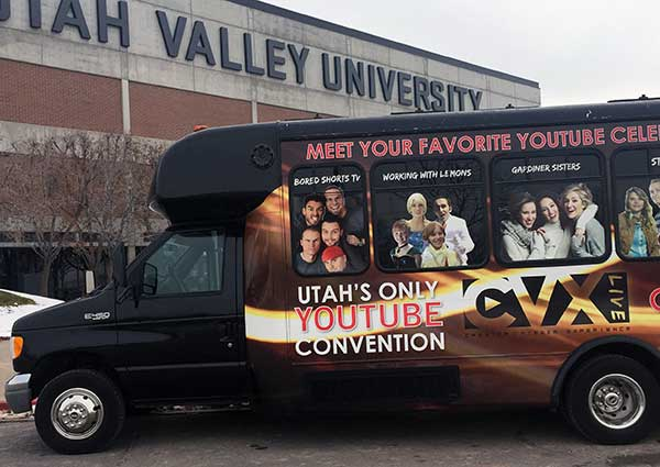 For the second year in a row, Utah YouTube stars are coming together at UVU's UCCU Center for the annual CVX event. (Photo by Jeanette Bennett)
