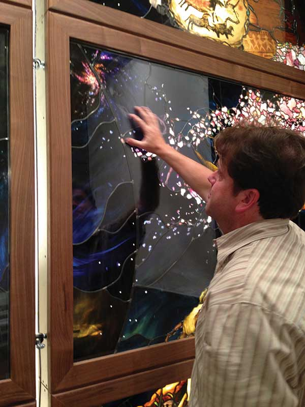 Tom Holdman is working on a stained-glass exhibit for Utah Valley University.