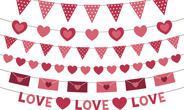 Pink vector decoration for Valentine's Day