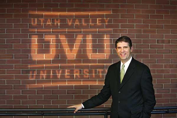Matt Holland is the president of Utah Valley University.