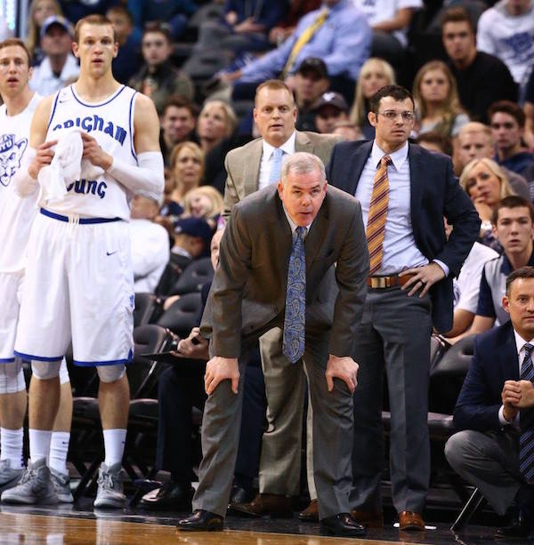 "BYU coach Dave Rose wanted Utah to finish its contract with BYU before considering taking a ""cooling off period"" from the rivalry. (Photo by BYU Photo)"