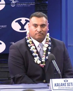 Kalani Sitake is the new head football coach at BYU.