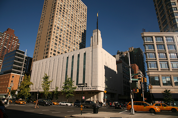 The Manhattan New York Temple was dedicated on  June 13, 2004. (Photo courtesy Mormon Newsroom)