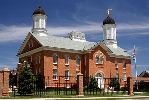The Vernal Utah Temple was dedicated on Nov. 2,  1997. (Photo courtesy Mormon Newsroom)