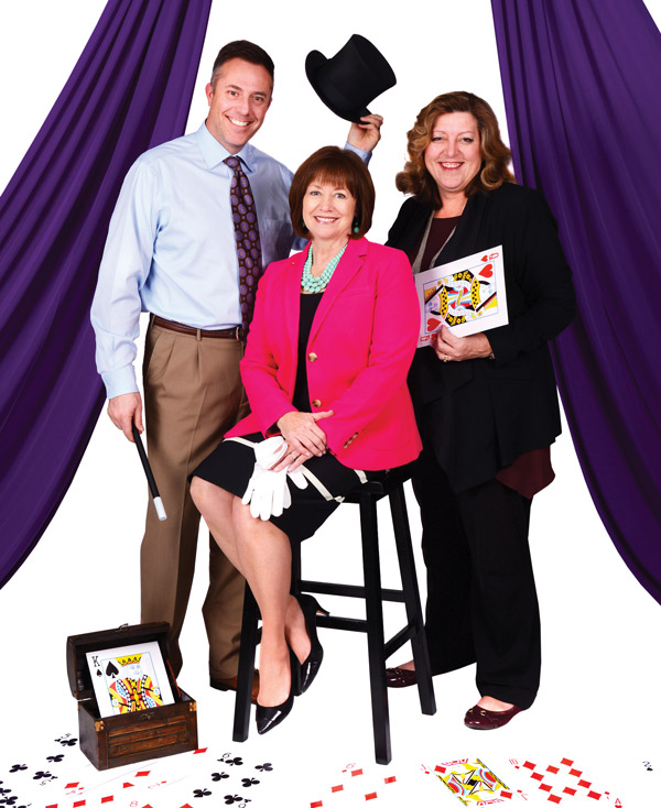 Cory Shupe, Michele Welch and Holly Richardson.