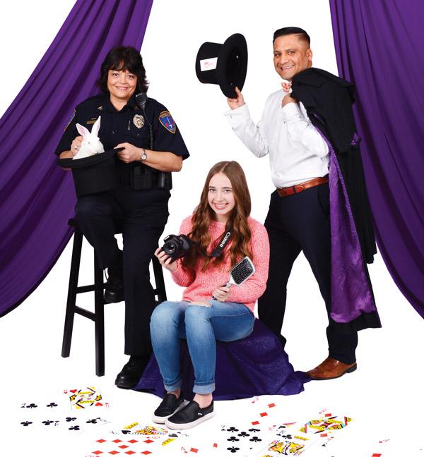 Elle Martin, Hannah Whatcott and Jose Enriquez.