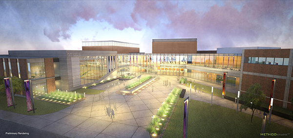 Utah Valley University will receive $32 million from the state legislature over the next two years for a new performing arts building. (Image courtesy UVU)