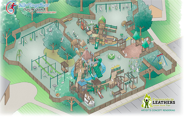 Orem is building an all-together playground.
