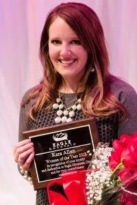 Kara Allen was named Eagle Mountain's 2015 woman of the year. Eagle Mountain is taking nominations for the 2016 woman of the year through April 13. (Photo courtesy emcity.org)