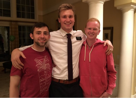 BYU basketball players Nick Emery, Eric Mika and TJ Haws are known as the Lone Peak Three. (Photo courtesy TJ Haws' Twitter)