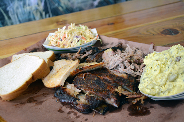 BEST OF THE BEST: Bam Bams BBQ Founder Cameron Treu says his most popular dish is the fatty brisket sandwich with pepper jack cheese, a side of potato salad and a George Randall (Diet Mountain Dew with Cherry Lime).