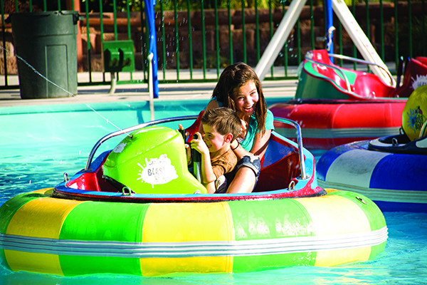 Finish (or start) a fun family feud with bumper boating at Boondocks Food and Fun Center in Draper. (Photo courtesy Boondocks Food and Fun Center)