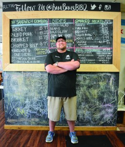"Cameron ""Bam Bam"" Treu created Bam Bams BBQ after falling in love with barbecue shows. (Photo by Rebecca Lane)"