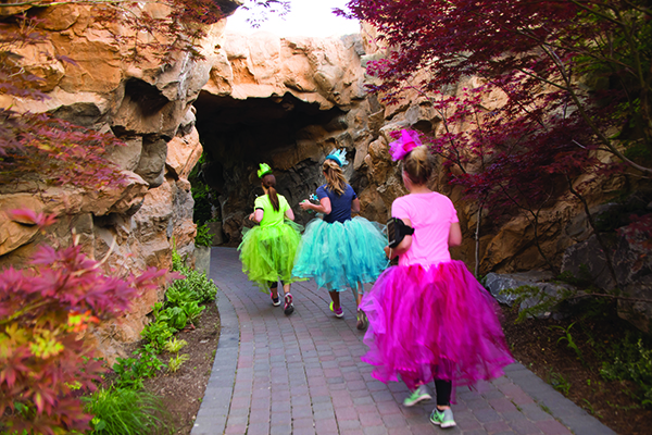 The Thanksgiving Point Fairy Tale 5K winds through the Thanksgiving Point gardens and around the waterfall amphitheater for a scenic and family-friendly race course. (Photo courtesy Thanksgiving Point)