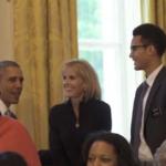 Mormon missionary meets President Obama