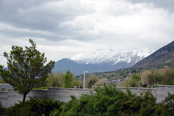 While recent rain showers have helped snowpack in the mountains, like Mount Timpanogos shown here, Utah is still low on water storage. (Photo by Rebecca Lane)