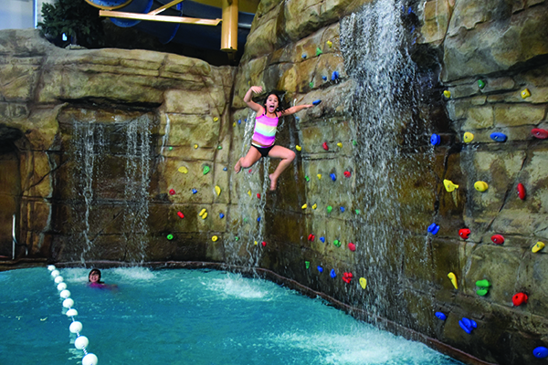 The Provo Recreation Center has a waterfall, rock wall and pool all in one for kids to splash the day away. (Plus, who wouldn't want to take a spin down the spiral tube slide?)