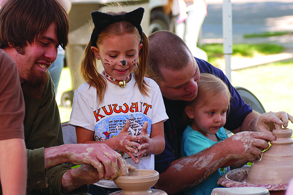 Springville's Art City Days lets families explore their creative side by throwing clay, painting faces and celebrating the heart of the Art City. Join in the fun June 4-11. (Photo courtesy Springville Art City Days, Utah Valley CVB)