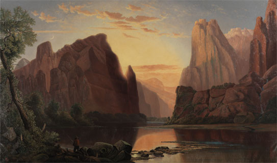 """Temples of the Rio Virgen"" is one piece featured in the BYU Museum of Art's National Park display to celebrate the 100th anniversary of national parks. (Photo courtesy BYU MOA)"