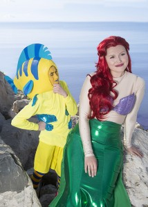 """Samuel Murdock is Flounder and Hannah Bayles is Ariel in the SCERA's production of """"The Little Mermaid. """"I would describe Ariel as unapologetically herself,"""" Bayles said. """"She is 100 percent authentic. She's passionate. She loves to have fun. She's spontaneous. She's spicy. She's also kind and loyal. I think that Ariel has qualities in her that I have wanted to incorporate in my life."""" (Photo by Mark A. Philbrick)"""