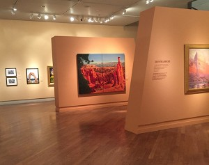 The BYU MOA encourages patrons to take selfies with the paintings and photos. Then post your photos on social media using the hashtags #FindYourPark #BYUMOA.