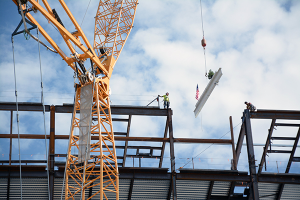 Beam grab, Utah Valley Hospital, final beam