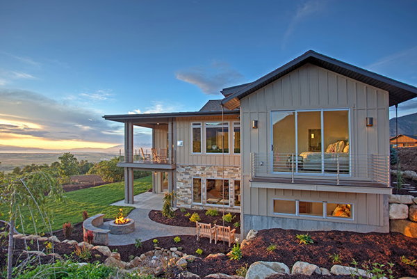 Summit Creek's Coral Bell Mountain Villa home won a Judge's Choice Award in the 2016 Utah Valley Parade of Homes. (Photo courtesy Summit Creek)