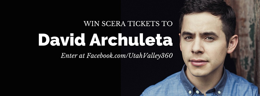 Click the picture to find out more on how you can enter to win two tickest to David Archuleta's concert at the SCERA on June 20.