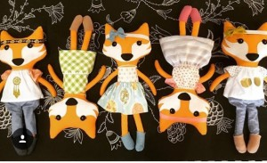 These 18-inch fox dolls are among the numerous gifts available at Here Provo, a new home and gift shop opening on Center Street Thursday, June 30. (Photo courtesy of Here Provo)
