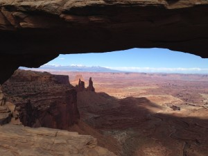 Mesa Arch captures the most well-known view of Canyonlands National Park, showcasing its scenic Island in the Sky district. (Photo by Christa Woodall)