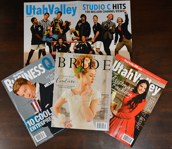 Besides taking first and third for best magazines in 2015, Bennett Communications also swept the best cover category with Utah Valley BusinessQ (1st), Utah Valley Magazine (2nd) and Utah Valley Bride (3rd). (Photo by Rebecca Lane)
