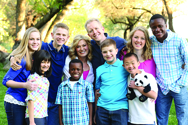 Meet the Grover Family Front Row: Lauren, 15; Bronson, 8; Jeffrey, 12; Michael, 12; Jacob (represented by the panda cub). Back Row: Brianna, 17; Joshua, 16; Jennifer; James; Emily, 19; Joseph, 16.