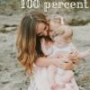 Kids 100 percent pin