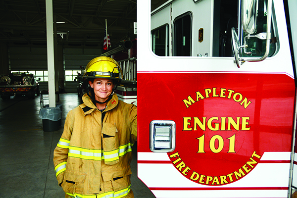 Missy Hone was one of the first women firefighters for Mapleton City. (Photo by Lindsey Williams/UV Mag)