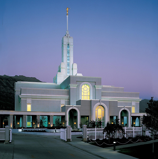 The Mount Timpanogos Temple was dedicated on Oct. 13, 1996. (Photo by LDS Church)