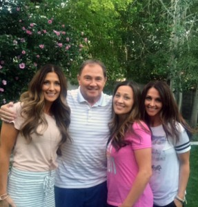 Governor Gary Herbert with his daughters (left to right) Kimberli Cahoon, Heather Vlaardingerbroek and Shannon Child. (Photo courtesy Heather Vlaardingerbroek)