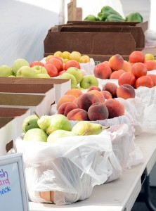 Of the vendors at the LaVell Edwards Stadium Farmers Market, 50 percent of them are local growers. (Photo by Rebecca Lane)