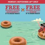 Free Krispy Kreme donuts for Talk Like a Pirate Day