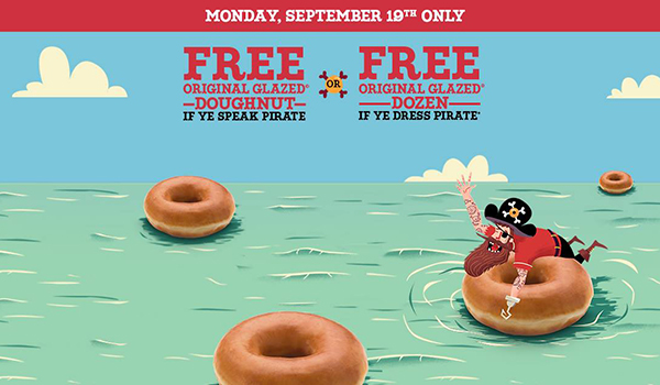 Krispy Kreme talk like a pirate