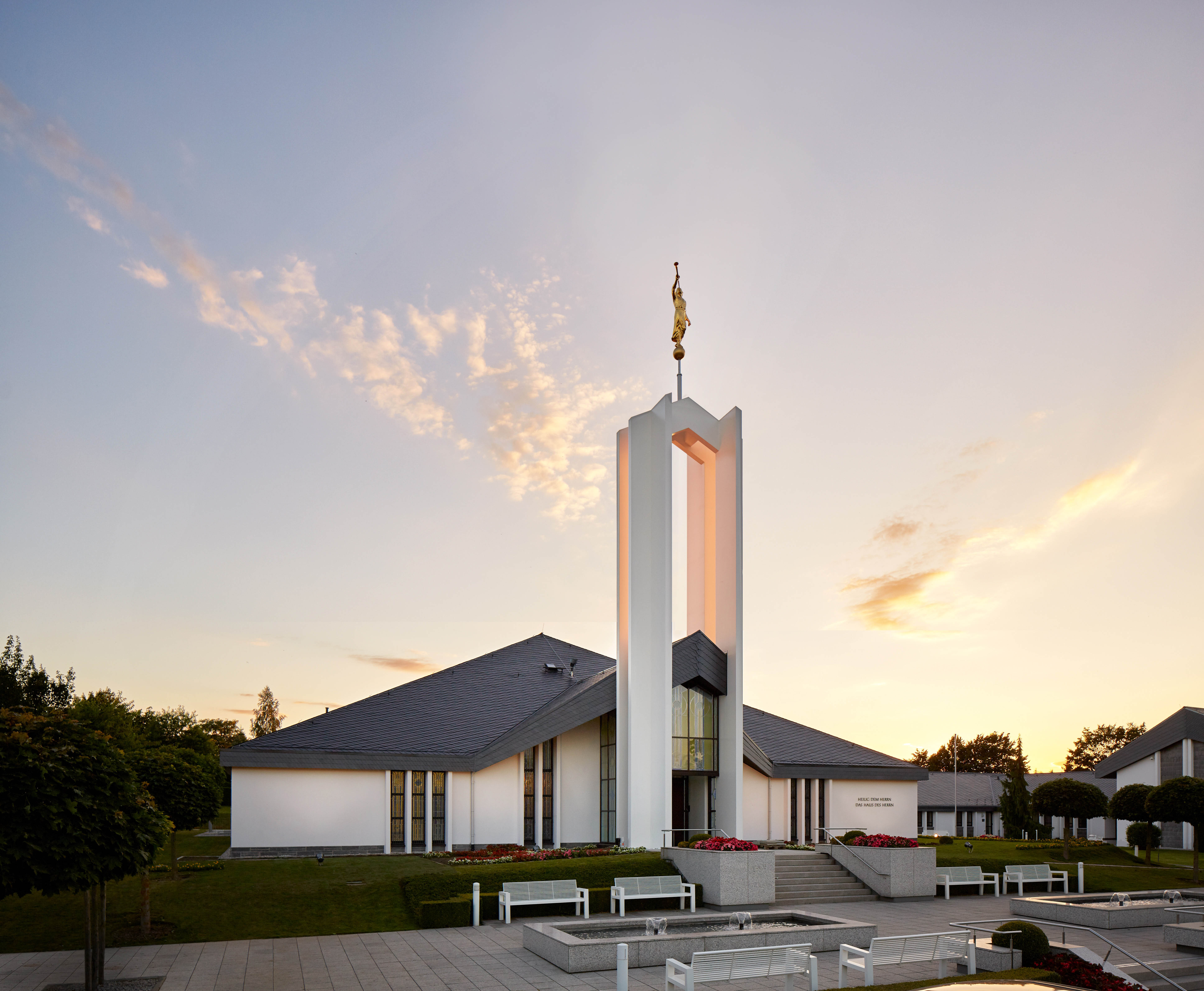 President Dieter F. Uchtdorf rededicated the Freiberg Germany Temple on Sept. 4, 2016. (Photo by Mormon Newsroom)