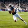 Senior wide receiver Nick Kurtz catches the ball for BYU's second touchdown in the fourth quarter against UCLA. (Photo by BYU Photo)