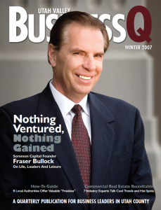 Fraser Bullock was featured on the cover of BusinessQ in Winter 2007.