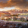 Campus photos of Classroom Building and Library in front of Mount Timpanogos from a boom truck, Wednesday, May 18, 2016. (Nathaniel Ray Edwards, UVU Marketing)