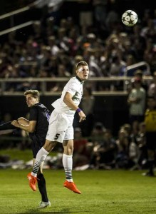 Senior striker Skyler Milne is the leading scorer for UVU. (Nathaniel Ray Edwards, UVU Marketing)