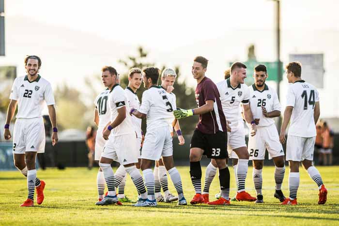 The UVU men's soccer team has climbed quickly into a national power. (Nathaniel Ray Edwards, UVU Marketing)